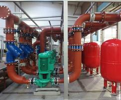 Chilled water pump installation