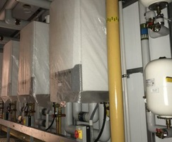 Interior of prefabricated packaged plantroom