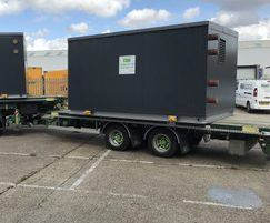 Packaged plant room ready for delivery