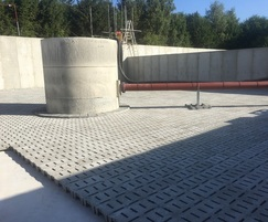 Installation of filter bed drainage tiles