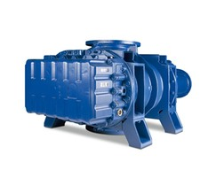Canned positive displacement motor blower