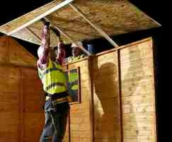 OSB3 is moisture resistant - great for sheds