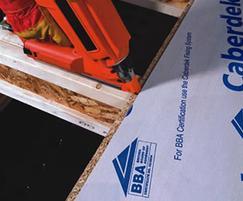 CaberDek peelable film-protected chipboard flooring