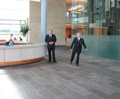 Caithness Flagstone paving, RBS World HQ, Edinburgh