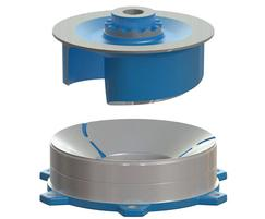 Contrablock plus impeller with adjustable bottom plate