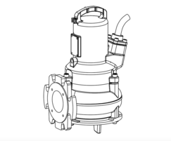 ABS AS submersible wastewater pumps - drawing
