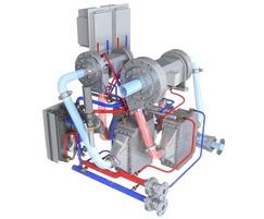 Oil-free HSR turbocompressor