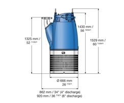 Submersible drainage pump XJ 900 drawing