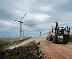 Hydroseeding at Clyde Wind Farm