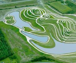 Hydroseeding, earth sculpture, Northumberlandia