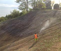 Hydroseeding at Southend-on-Sea