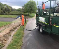 Wildflower hydroseeding for Solihull County Council