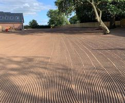 A 2000m2 lawn, prepped and seeded by CDTS