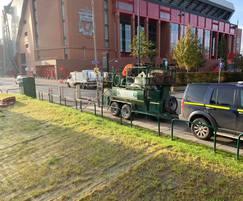 Hydroseeded counter-terrorism bund, Anfield Road