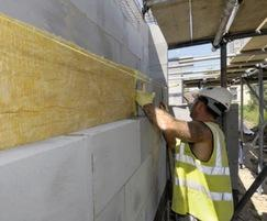 Aircrete blocks used in solid wall construction