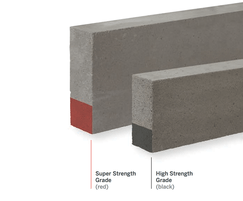 Red stripe = Super Strength Grade aircrete block