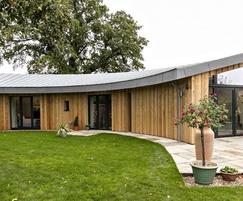 Timber faced external wall U value 0.096W/m2K