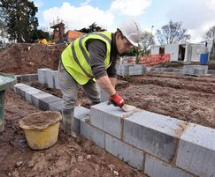 Aircrete blocks for foundations and walls