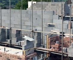 Celcon Jumbo Bloks during construction