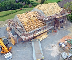 Celcon Jumbo Bloks being used to build home in Wales