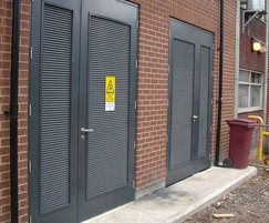 Louvres provide ventilation for steel doors