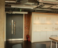 Painted timber fire doors