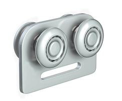 Steel roller with ball bearing wheels for sliding doors