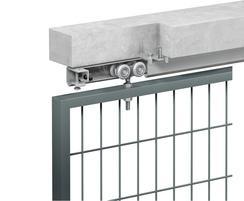Soffit fix single metal door example