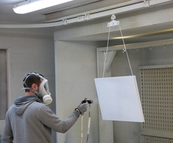 multirail™ overhead runway system in joinery workshop