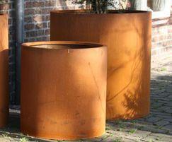 Corten Steel Atlas Cylinder Planter
