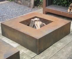 Corten Steel Square Fire Table