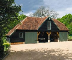 Oak framed garages reduced