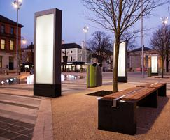 s83 bespoke seating with s16 litter bins