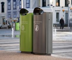 s16 galvanised steel dual recycling bin