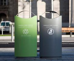 Omos s16 galvanised steel dual recycling bin