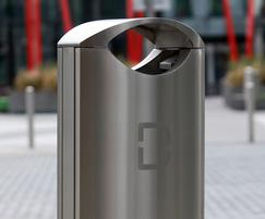 Stainless steel bins for Dublin Docklands business area