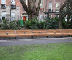 Bespoke iroko timber and cast iron seats