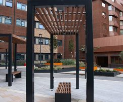 Bespoke architectural canopies and bespoke benches