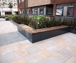 s21 planters with bench seating