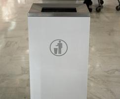 s45 litter bin for shopping centre