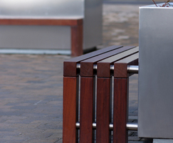 s57 stainless steel tree planter with seating