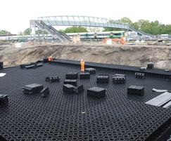 StormBrixx stormwater attenuation tanks, Three Bridges