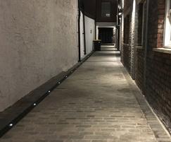 ACO Eyeleds drainage channel with LED lighting