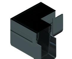 ACO Threshold Drain corner unit in black