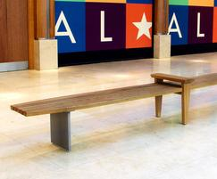DB bench in FSC Iroko and cast aluminum