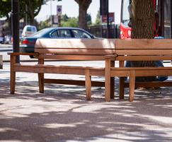 Bespoke angled Chico bench at Catford Broadway