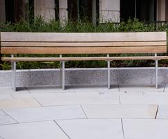 Benches were modelled on the standard Norfolk style