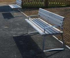 Meko bench with backrest