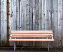Norfolk bench with powder coated cast aluminium frame