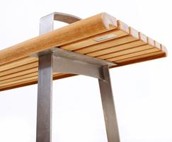 Meko bench leg detail